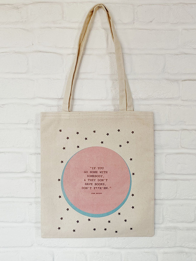 """""""If You Go Home With Somebody, & They Don't Have Books, Don't F**k 'Em"""" Tote Bag by FiLBooks"""